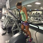 woman in Elliptical exerciser