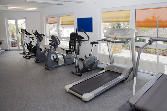 a gym station equipped with treadmill