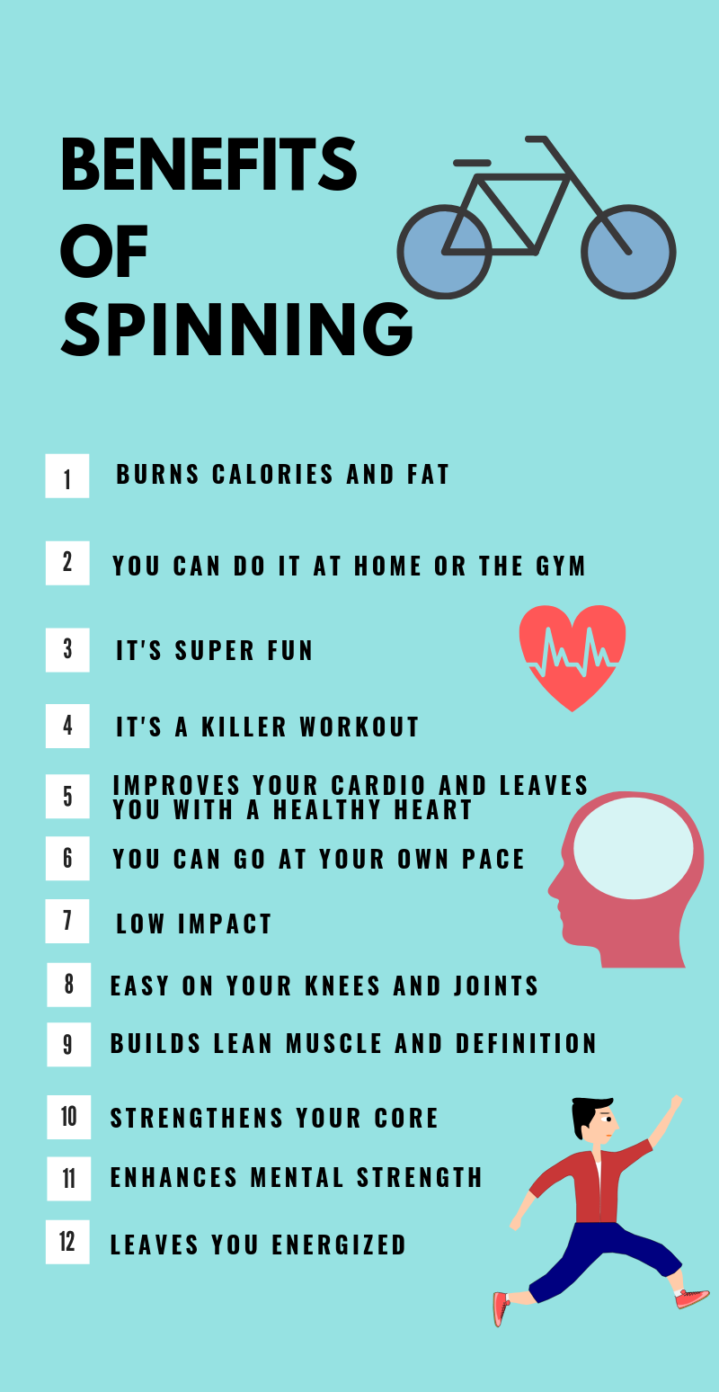 benefits of spinning infographic